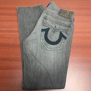 True Religion Jack 100% Cotton  Men's Gray Jeans